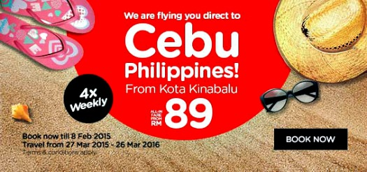 AirAsia Reconnects Kota Kinabalu – Cebu, Philippines With 4x Weekly Flights