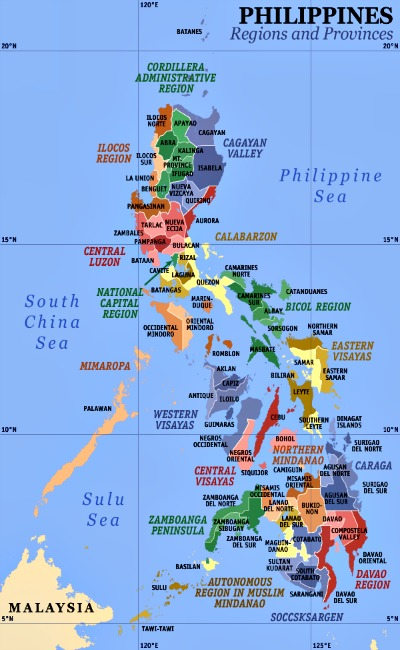 regions of the philippines and philippine Geography of the philippines, population dynamics introduction the philippine archipelago forms a cultural and ecological crossroads, where malays, chinese, spaniards, americans with the visayan islands represent the three principal regions 1460 of the archipelago.