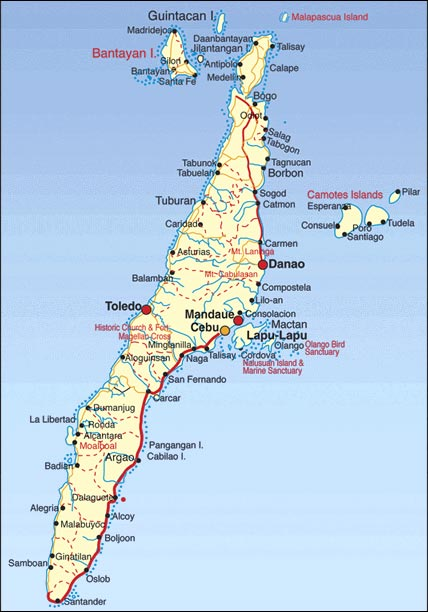 Cebu Map, Cebu Map Philippines
