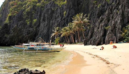Rejoicing in the Blue Waters in Palawan Province