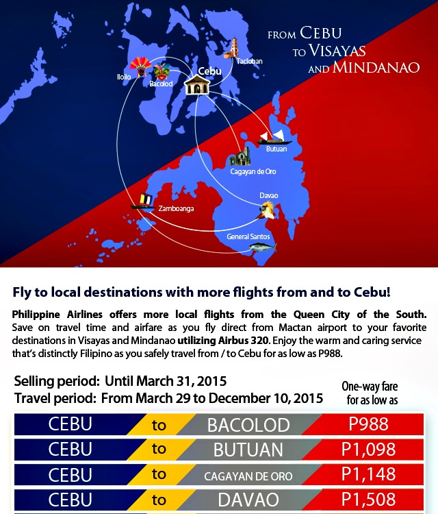 PAL Promo; Fly to More Local Destinations to and From Cebu