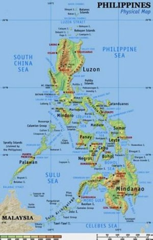 Physical Map of the Philippines